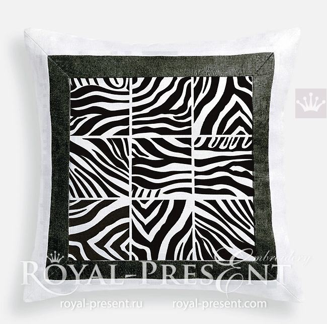 Machine Embroidery Designs Zebra prints for quilting RPE-1764