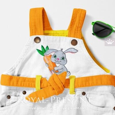 Free Bunny Machine Embroidery Design - 2 sizes