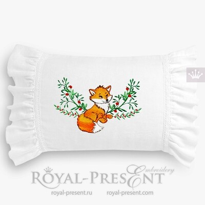 Fox Machine Embroidery Design - 2 sizes