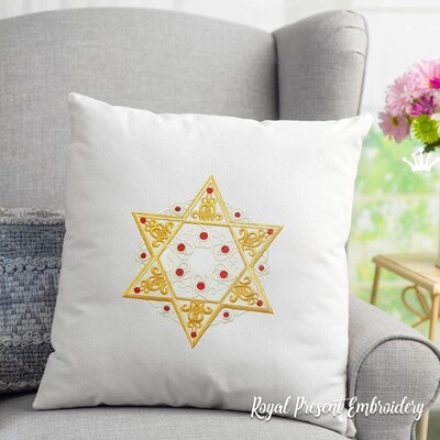 Machine Embroidery Design Star of David - 2 sizes