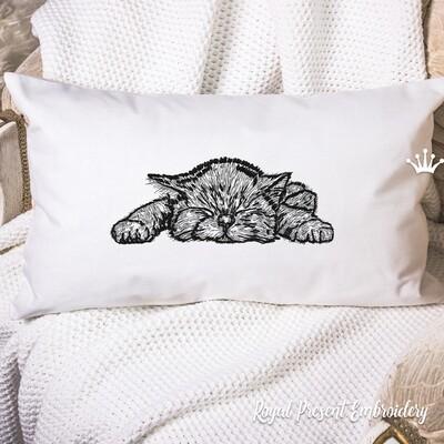 Machine Embroidery Design Sweet Dreams, Kitten - 2 sizes