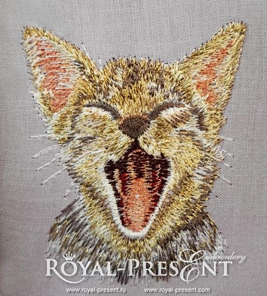 Machine Embroidery Design Cute Pocket Cat