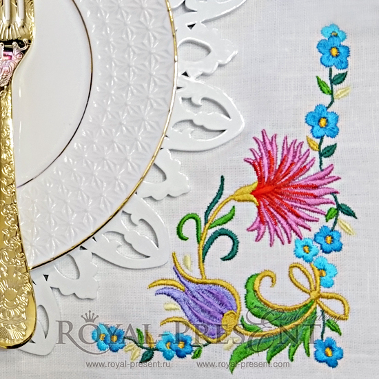 Machine Embroidery Design  Ottoman ornament - 3 sizes RPE-1023