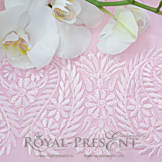 Machine Embroidery Design Indian Lace border