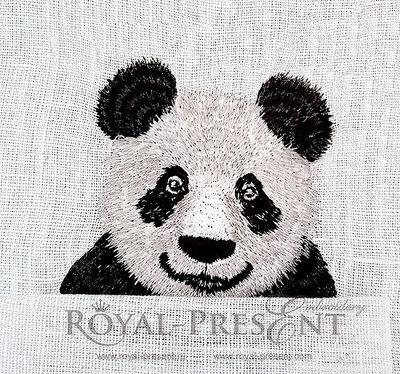 Machine Embroidery Design Pocket Panda