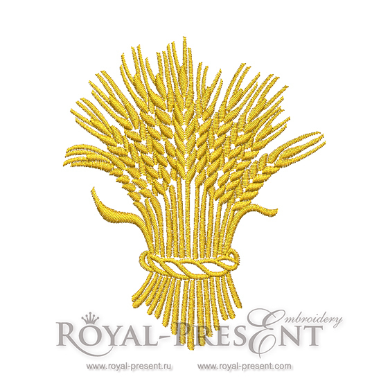 Machine Embroidery Design Golden spikelets