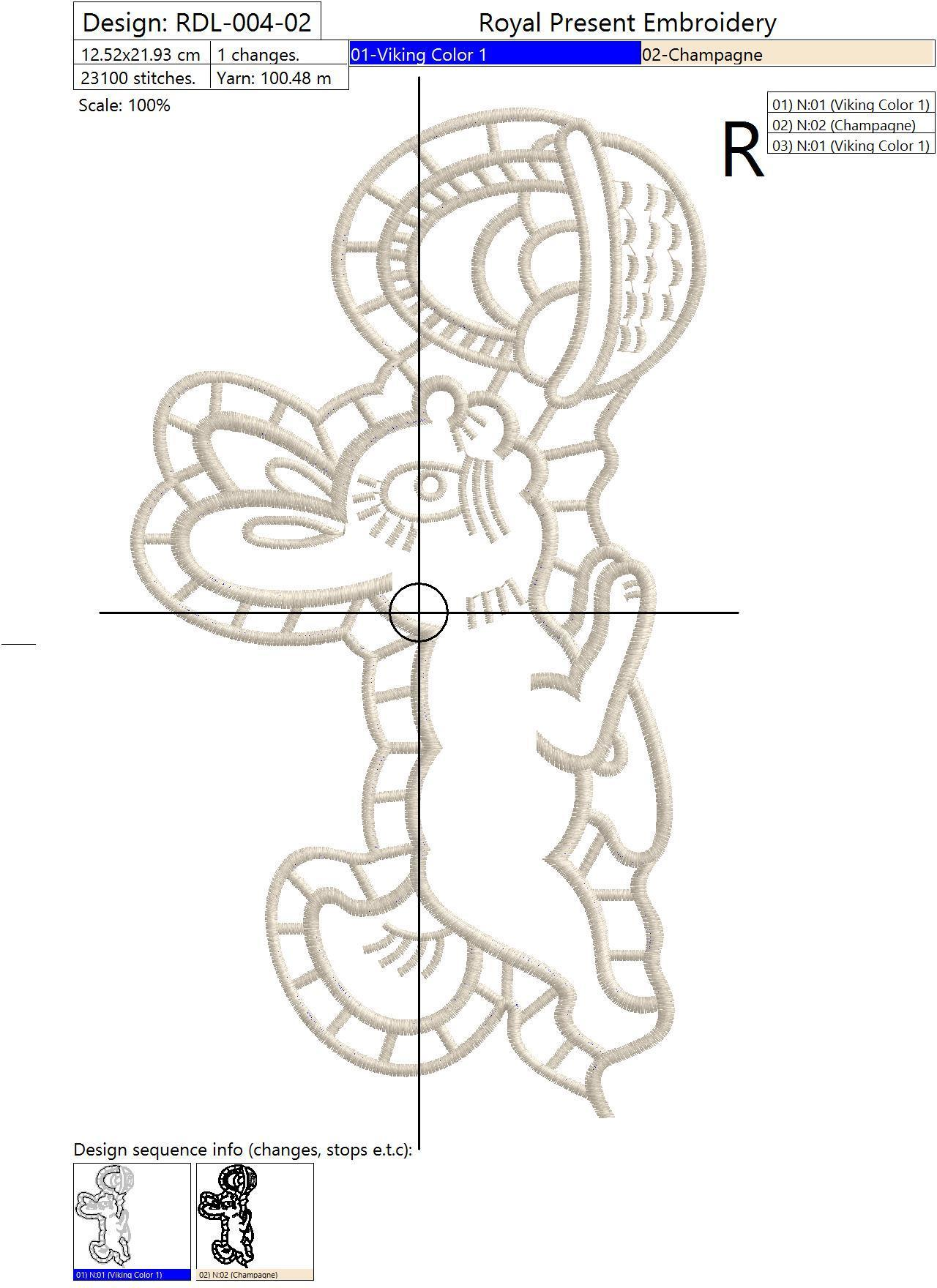 Machine Embroidery Design Easter Bunny Richelieu - 3 sizes
