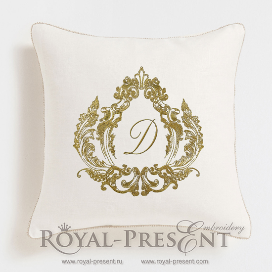Machine Embroidery Design Baroque Monogram Blank RPE-1037