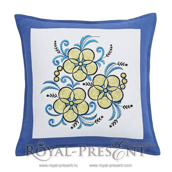 Free Machine Embroidery Design Garden flowers RPE-790