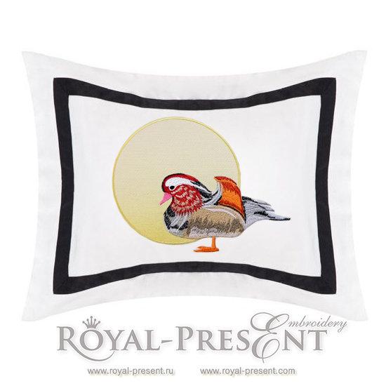 Machine Embroidery Design Mandarin duck - 3 sizes RPE-1163