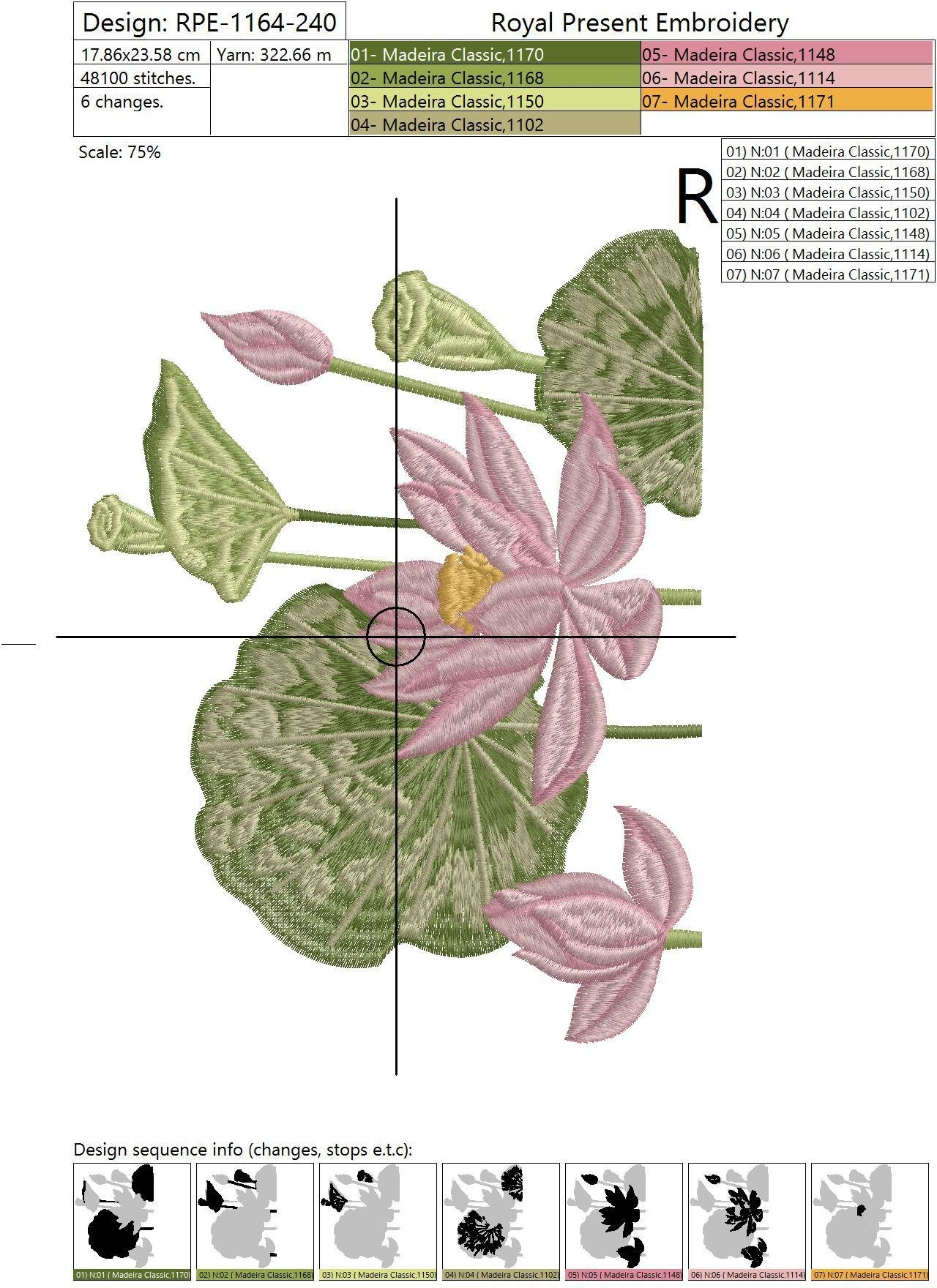 Machine Embroidery Design Mandarin duck - 2 sizes