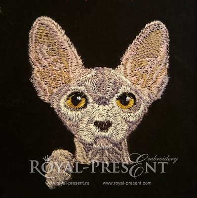 Machine Embroidery Design - Pocket Cat - Sphynx