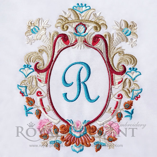 Machine Embroidery Design Luxury Monogram Blank - 3 sizes RPE-437