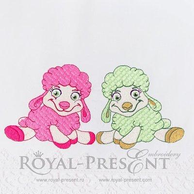 Machine Embroidery Design Baby sheep