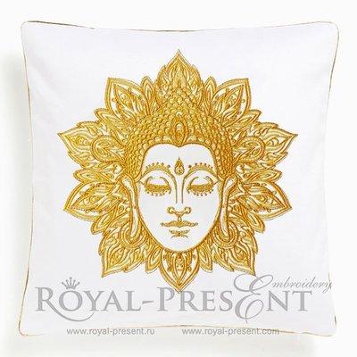 Machine Embroidery Design Buddha face - 2 sizes