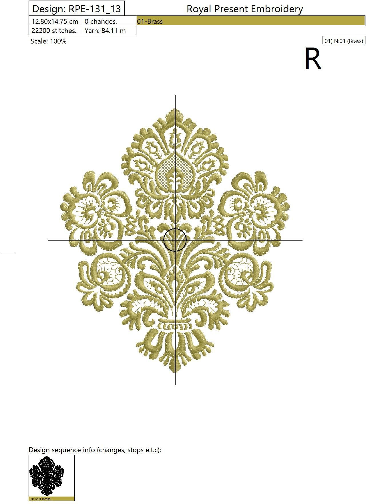 Machine Embroidery Design Classic Collection - 2 sizes