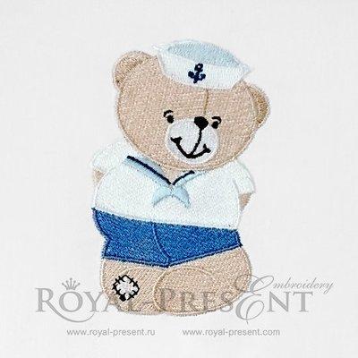 Machine Embroidery Design Teddy Bear sailor