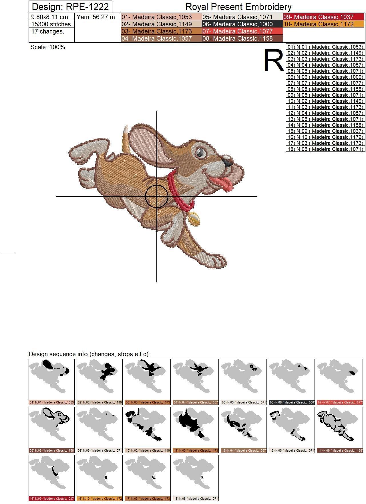 Machine Embroidery Designs Cute Fun Puppy - 3 sizes