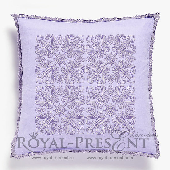 Quilt Block Machine Embroidery Design Lilac Color - 7 sizes RPE-093