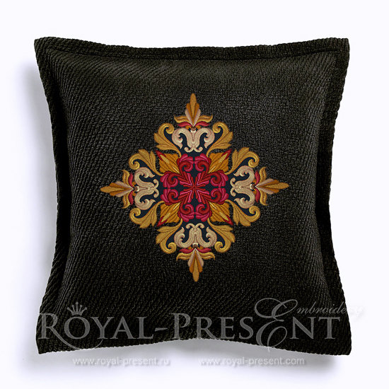 Medieval Acanthus Quilt Block Machine Embroidery Design - 7 sizes