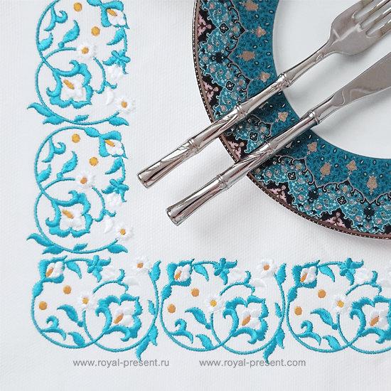 Machine Embroidery Marocco border - 2 sizes RPE-1153