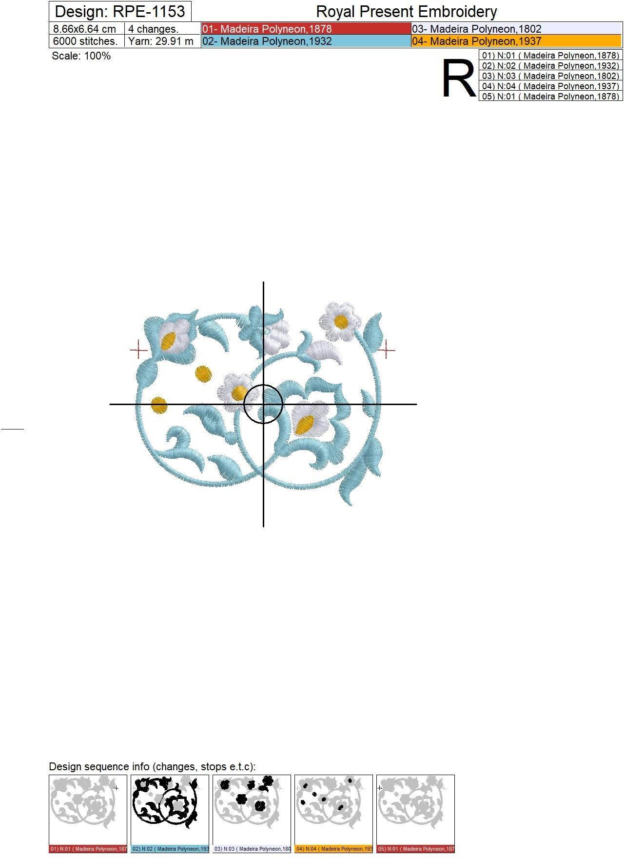 Machine Embroidery Marocco border - 2 sizes