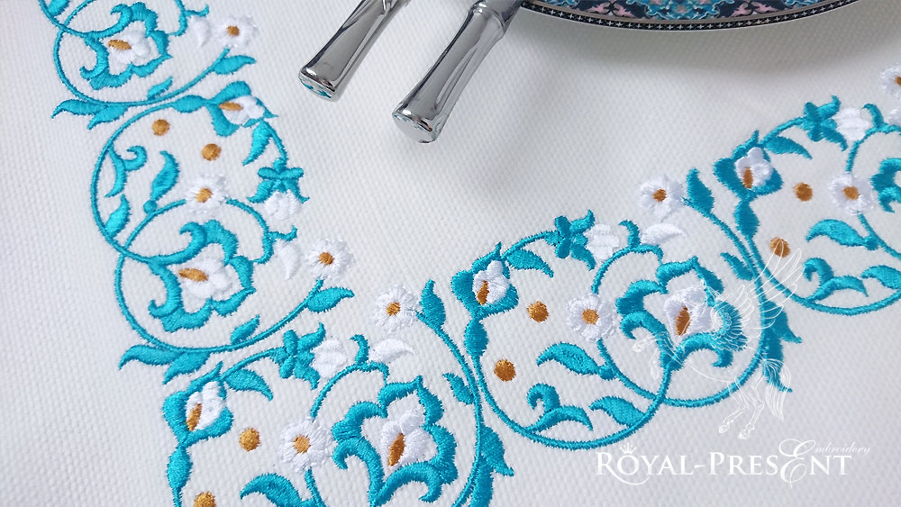 Machine Embroidery Morocco border - 2 sizes