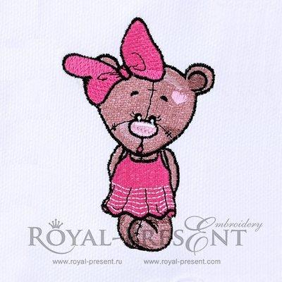 Machine Embroidery Designs Teddy Bear Girl - 3 sizes