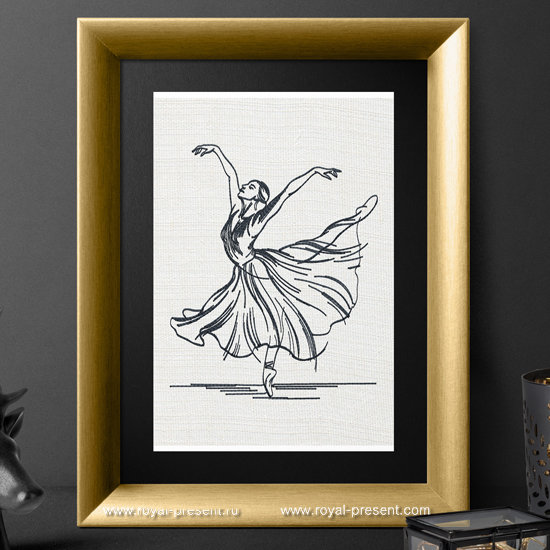 Machine Embroidery Design Young ballerina - 3 sizes