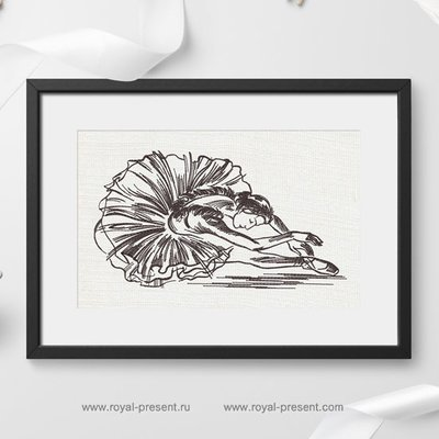 Machine Embroidery Design Ballerina