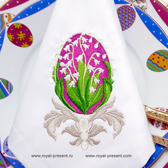 Faberge Egg Embroidery Design - 3 sizes RPE-1247