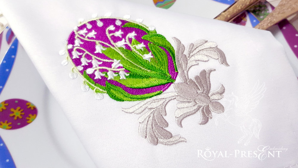 Faberge Egg Embroidery Design - 3 sizes