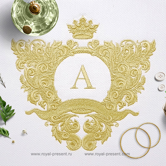 Ornate baroque frame Embroidery Design - 4 sizes RPE-1244