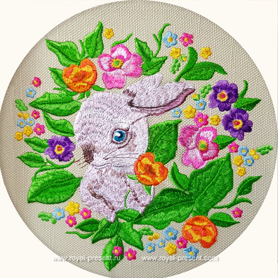 Bunny Machine Embroidery Design - 4 sizes