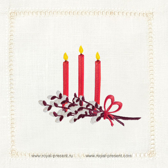 Easter Candles machine Embroidery Design RPE-1282
