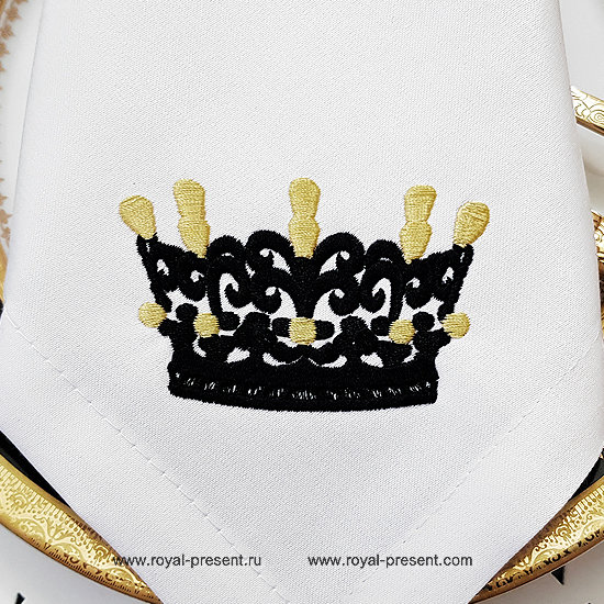 Crown Embroidery Design - 3 sizes RPE-1285