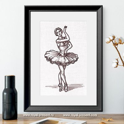 Swan Lake Ballerina Machine Embroidery Design - 7 sizes