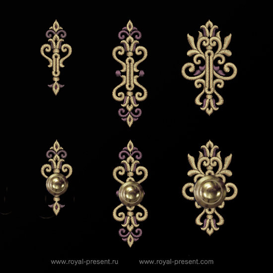Set of buttonholes Machine Embroidery Designs RPE-1303