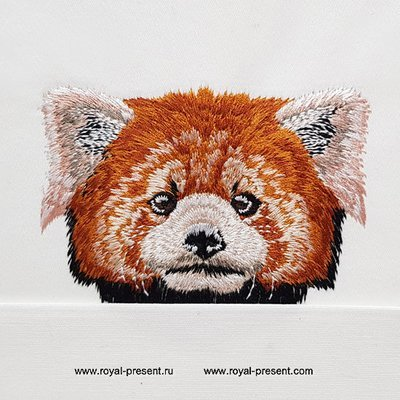 Pocket Red Panda Machine Embroidery Design
