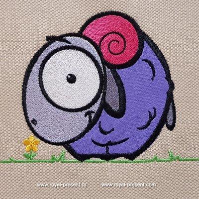 Appliqué Machine Embroidery Design Lamb