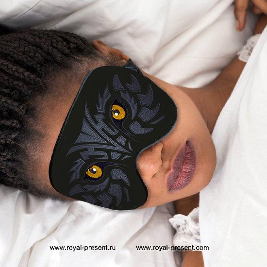 In the hoop Machine Embroidery Design Sleep Mask Predator RPE-1336