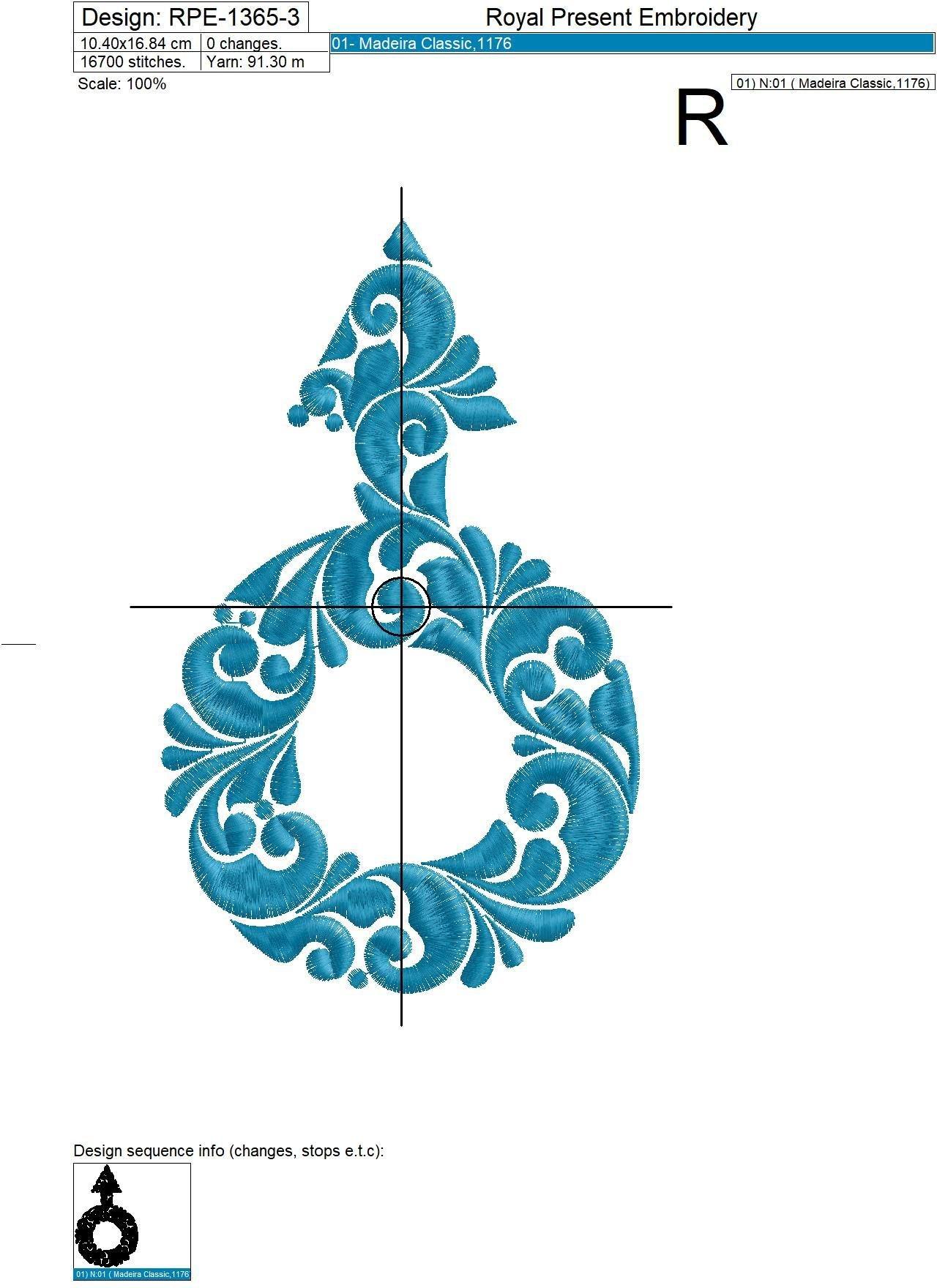 Female and Male symbols Machine Embroidery Designs