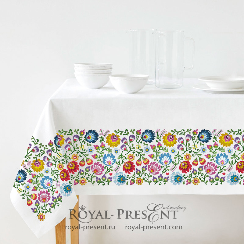 Polish Folk Art machine embroidery design - 2 sizes RPE-1373