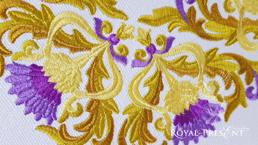 Blooming Golden Thistle Two elements for Machine Embroidery