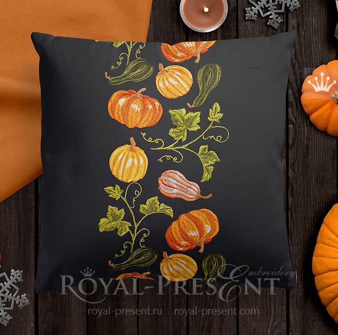 Pumpkins Machine Embroidery Designs set RPE-325