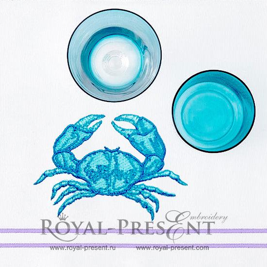 Machine Embroidery Design Crab RPE-211