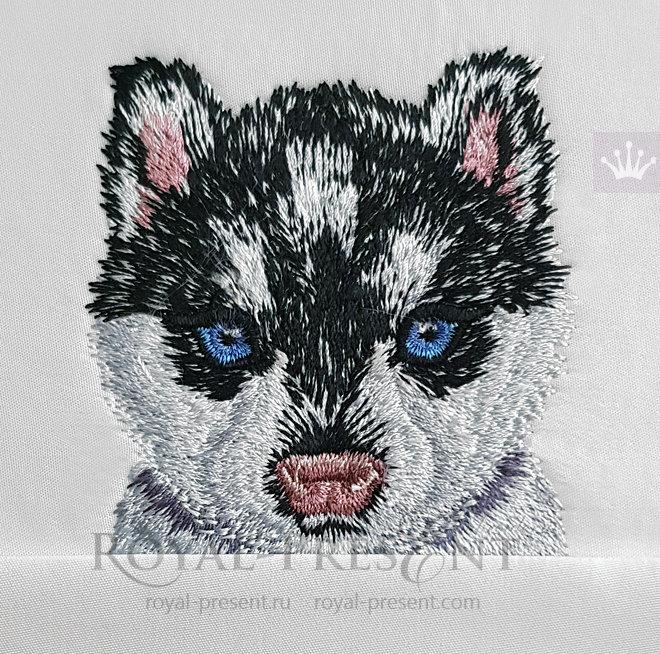 Pocket Husky Machine Embroidery Design - 2 sizes RPE-1420