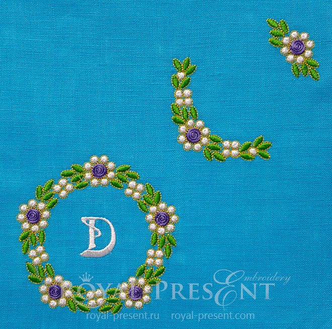 Floral Emerald Machine Embroidery Designs Pack RPE-1454
