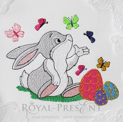 Machine Embroidery Design Easter Bunny