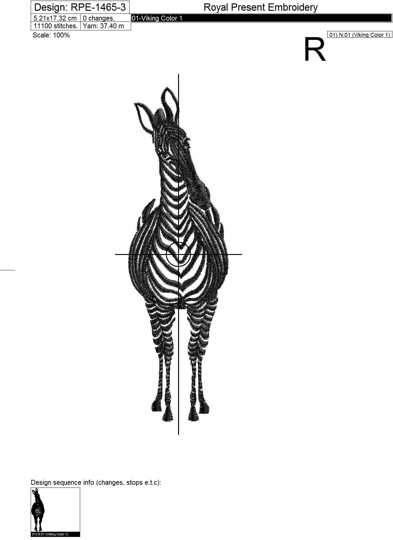 Zebras Machine Embroidery Designs - 6 in 1
